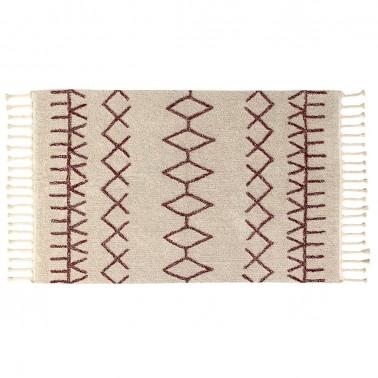 alfombra lavable bereber burgundy lorena canals