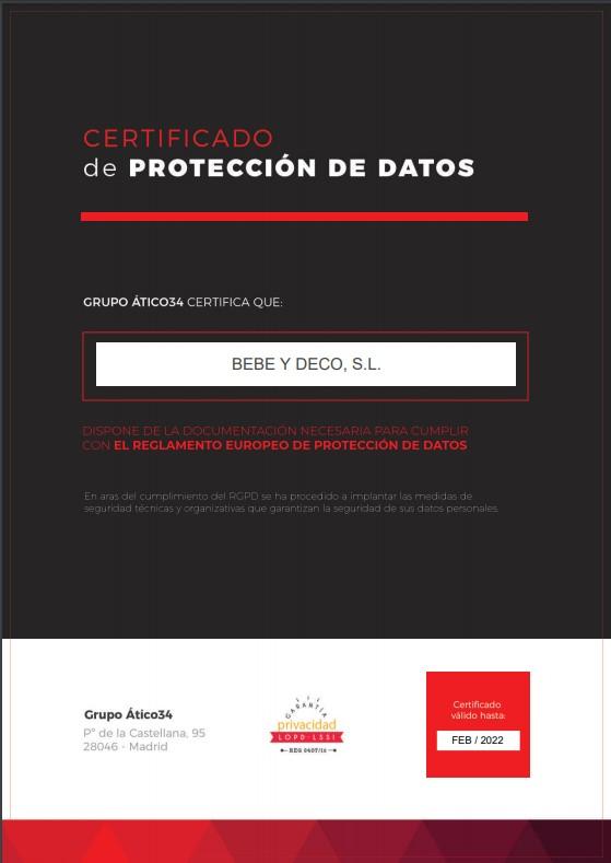 Certificado Nuevo RGPD